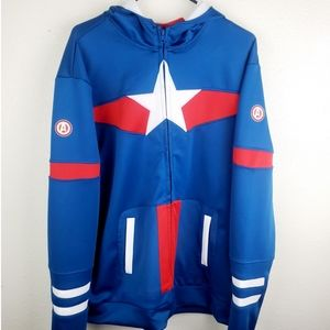 DISNEY MARVEL Captain America Zipper Hoodie Jacket